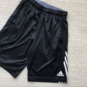 Adidas•Black Soccer Shorts